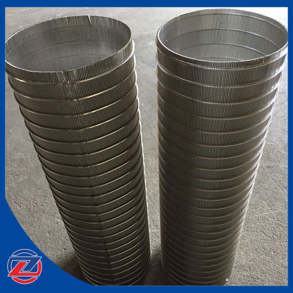 Reverse rolled wedge wire screen pipe