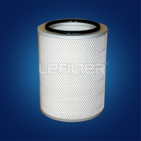 Wood pulp fiber air filter cartridge