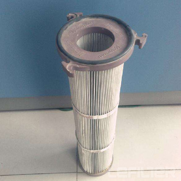 Three ears dust cartridge filter 3-lug flange fil