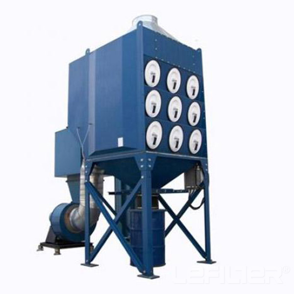 Filter cartridge dust collector for cement factory