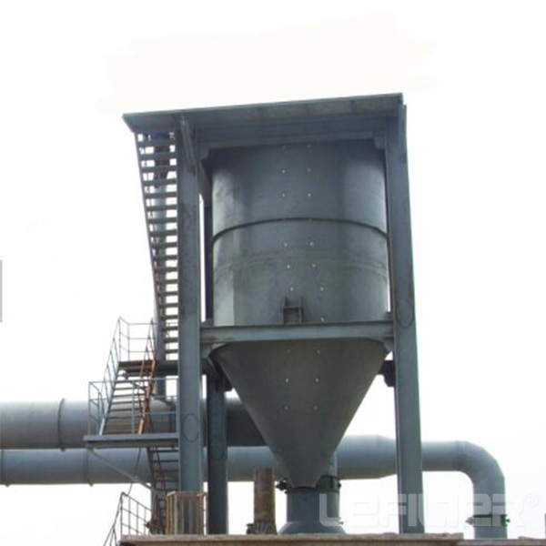 Material cutting plant cyclone dust collector