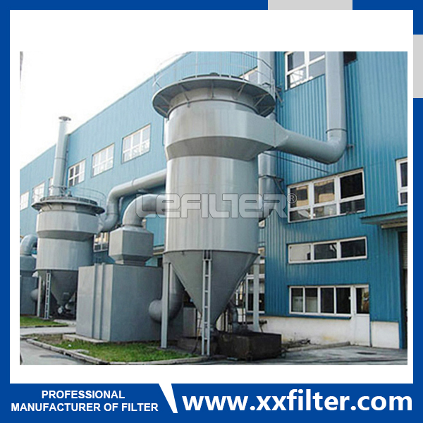 Industrial multi cyclone dust collector w