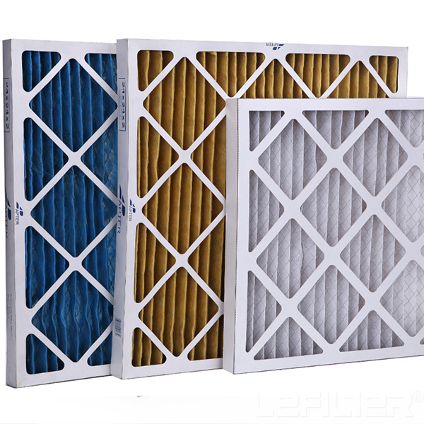 Washable Panel Pleated Air Filter For AHU