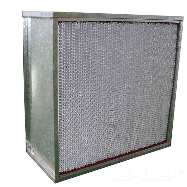 Aluminium fr<x>ame Deep Pleat Box HEPA Filter