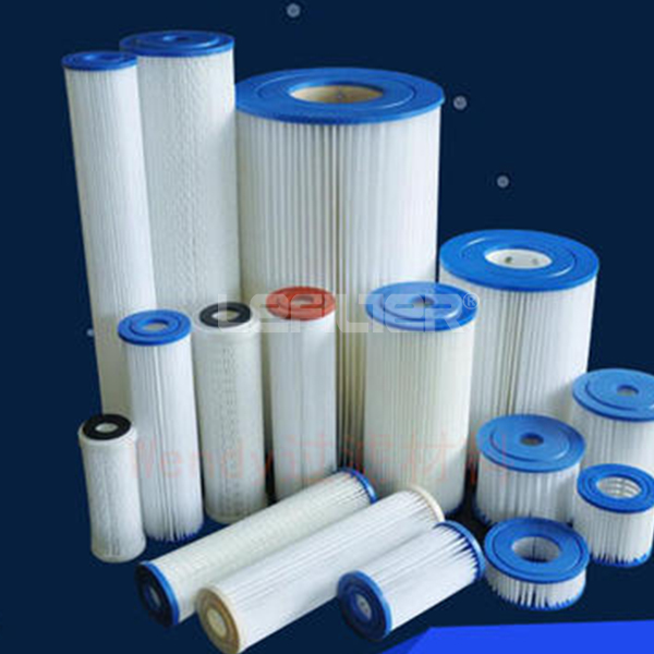 Industrial water treatment multi-fold filter
