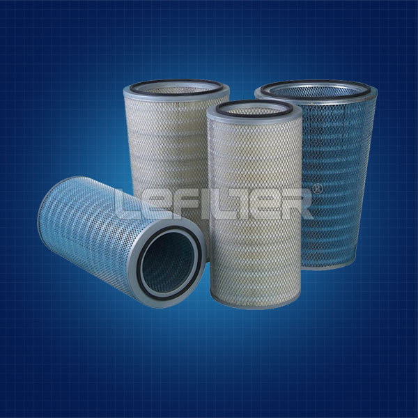 cylindrical dust air filter cartridge