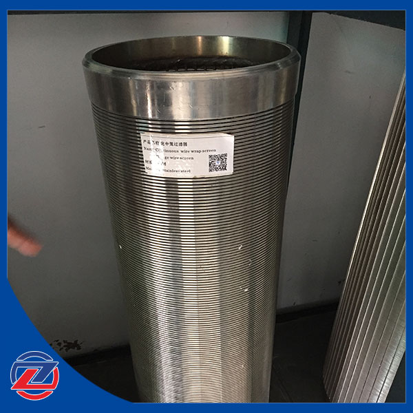 Stainless steel continuous Slot Wedge Wire wound We