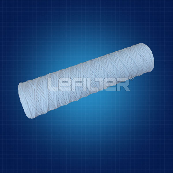 Absorbent cotton filter for water treatment