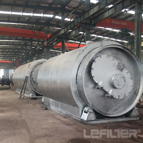 High oil yield continuous waste tire pyro