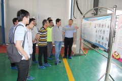 University Director visit to factory about School-e