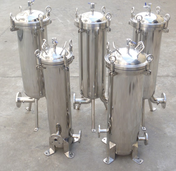 Steel cartridge filter housing for RO water treatme