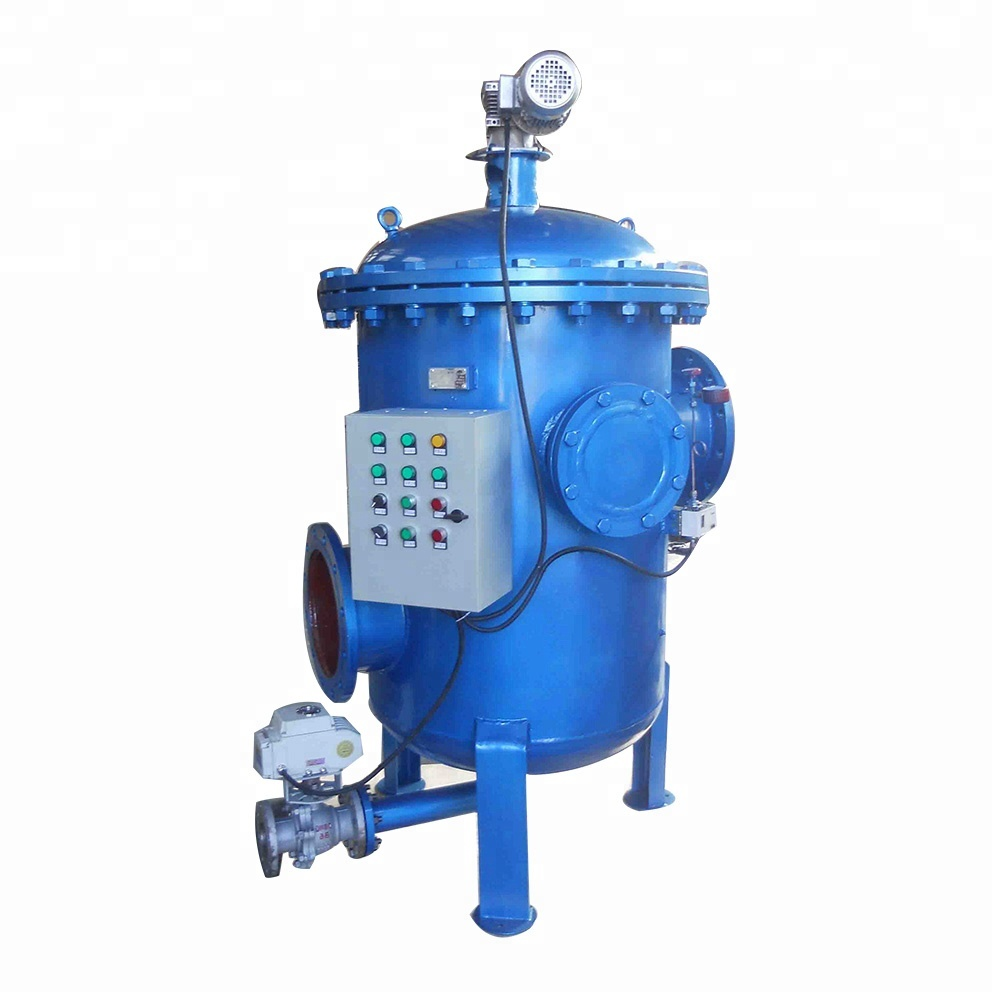 Automatic self cleaning strainer for power plant