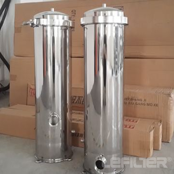 Water cartridge filter housing for RO sys